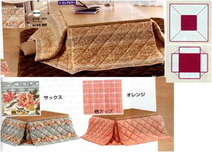 【大感謝価格 】色柄おまかせ 省スペースタイプコタツ掛布団 正方形
