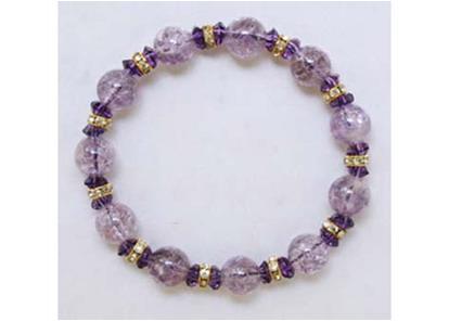 【大感謝価格 】クラック 紫水晶 ブレスレット