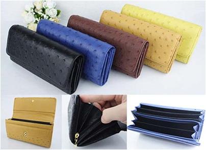 【大感謝価格 】Genuine オーストリッチかぶせ財布