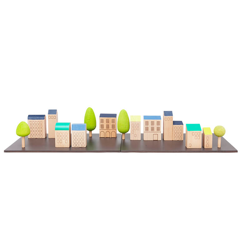【送料無料】kiko+ (キコ) machi(まち)Bonpoint(ボンポワン) × kiko+ PEKUKHOUSE (Paris 町、街、マチ)木のおもちゃ ままごと 知育玩具 【子供 誕生日プレゼント 1歳 2歳 3歳 4歳 男の子 女の子】