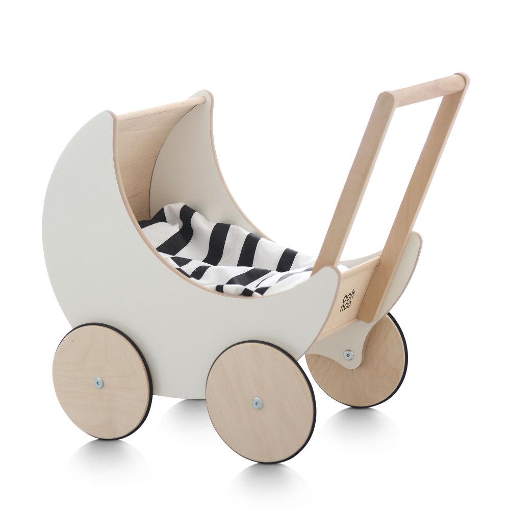 木製 手押し車 ooh noo Toy Pram出産祝い・ギフトや誕生日プレゼントに!oohnoo 【プルトイ 赤ちゃん ベビー 子供 カタカタ 知育玩具 木製玩具】【木のおもちゃ 1歳 2歳 3歳 女の子 男の子】