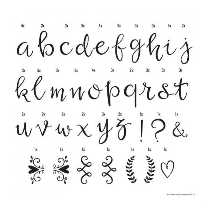 A Little Lovely Company And Light Box Letter Set Script Lightbox Hand Written Style
