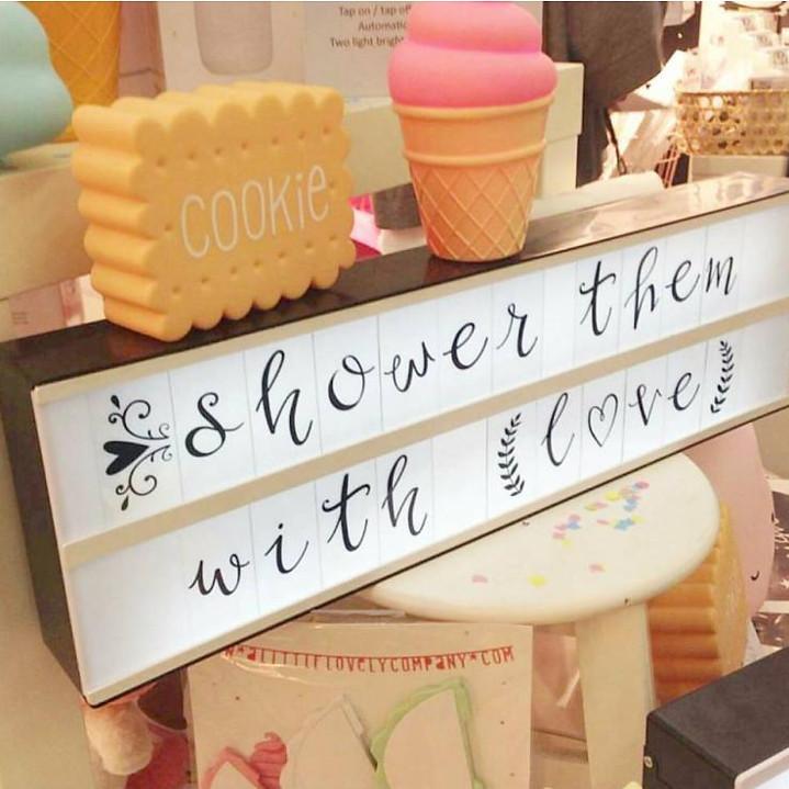 A little lovely company and little lovely company Little Lovely Light box Letter set Script lightbox