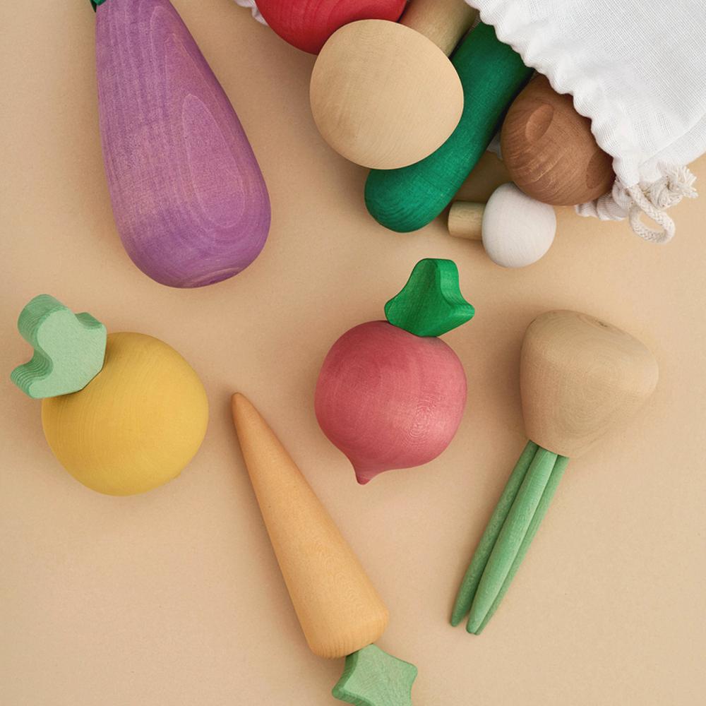 RADUGA GREZ(ラドガ グレ) Vegetables set やさいブロック 【ごっこ遊び ままごと 木製ブロック】【おしゃれ インテリア】【知育玩具】【ご出産お祝い 贈り物】