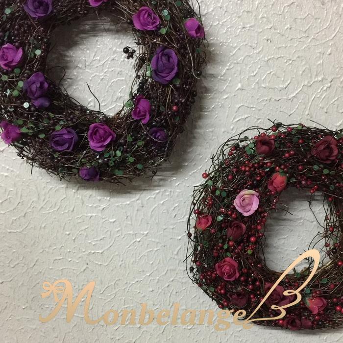 クリスマスに 敬老の日 小花のリース クリスマス リース 即出荷 限定品 花