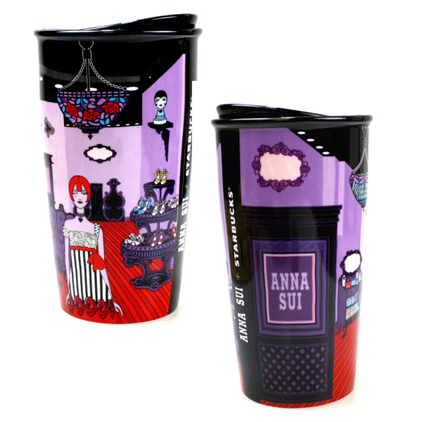 It Is Double Walled Mug STARBUCKS X ANNA SUI Collaborations! Anna Sui Shop  Has Been Designed Into The Body. Delivered In A Gift Box.