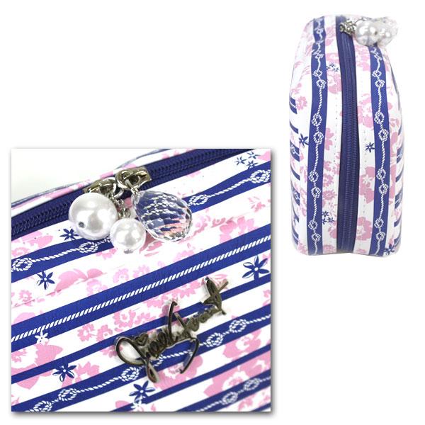 Jill Stuart JILL STUART ☆ porch wristlet pouch romantic marine Crystal charm floral makeup makeup cosmetics brand Halloween wrapping fall giveaway gift