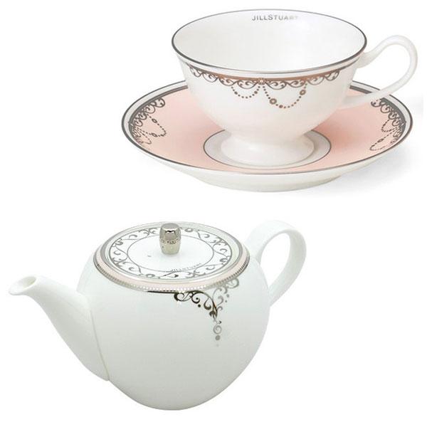 吉尔 · 斯图尔特吉尔 · 斯图尔特 ☆ 厨房标志白色白陶锅茶杯套集的品牌包装落赠品礼物的万圣节