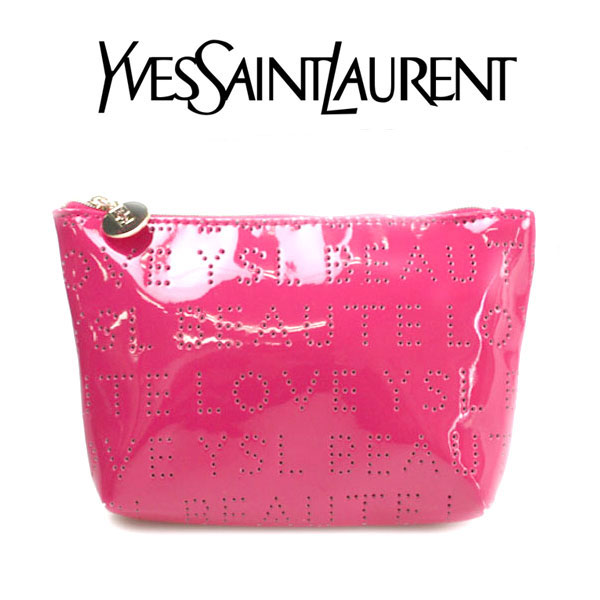 e65c910a06 Yves Saint-Laurent Yves saint Laurent YSL ☆ porch accessory case logo peach  pink punching enamel makeup make cosmetics brand new life cherry tree  cherry ...