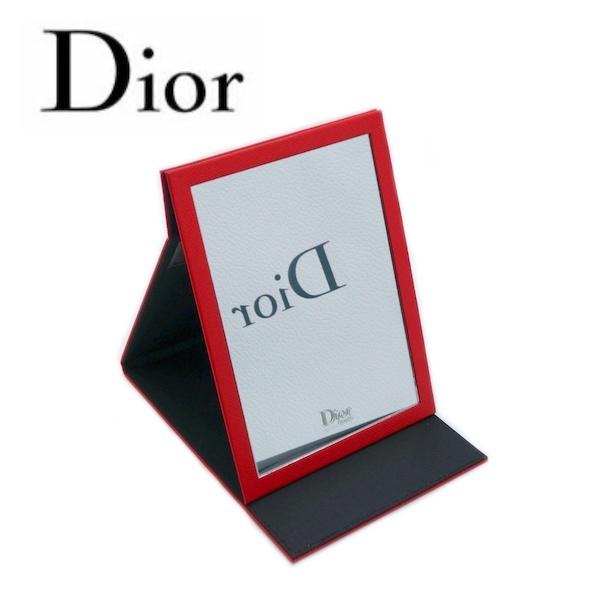 【メール便対象】ディオール ビューティー Dior Beauty☆スタンドミラー ミラー 鏡 ロゴ 赤 レッド シンプル ミニ 化粧 メイク コスメ ブランド クリスマス ハロウィン バレンタイン