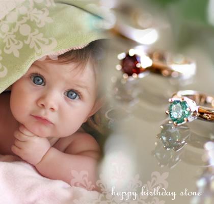 【誕生石】出産祝い・記念に赤ちゃんのファーストジュエリーを☆自分の誕生石をお守りに【日本製】★K18ゴールド12か月ベビーリング(リングのみ)