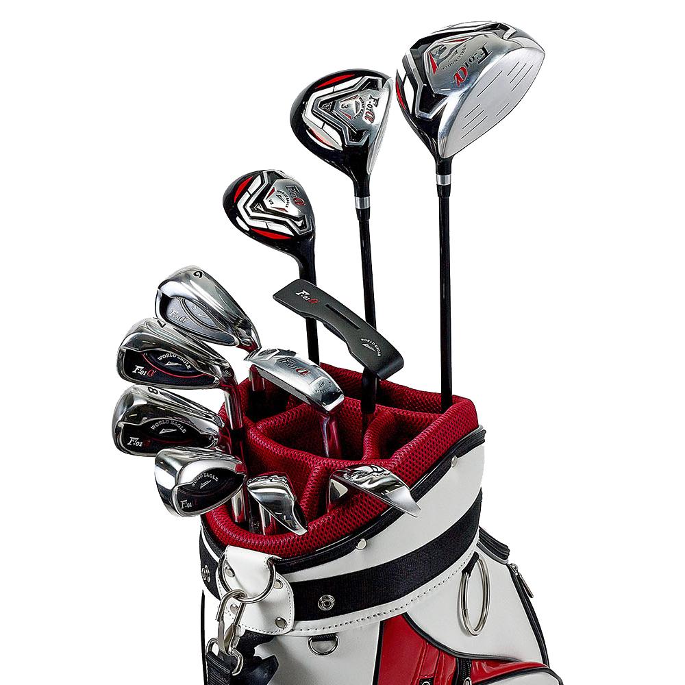 ワールドイーグル F-01αクロスモデル メンズ14点ゴルフクラブフルセット 右用 CBX003バッグ【初心者 初級者 ビギナー】