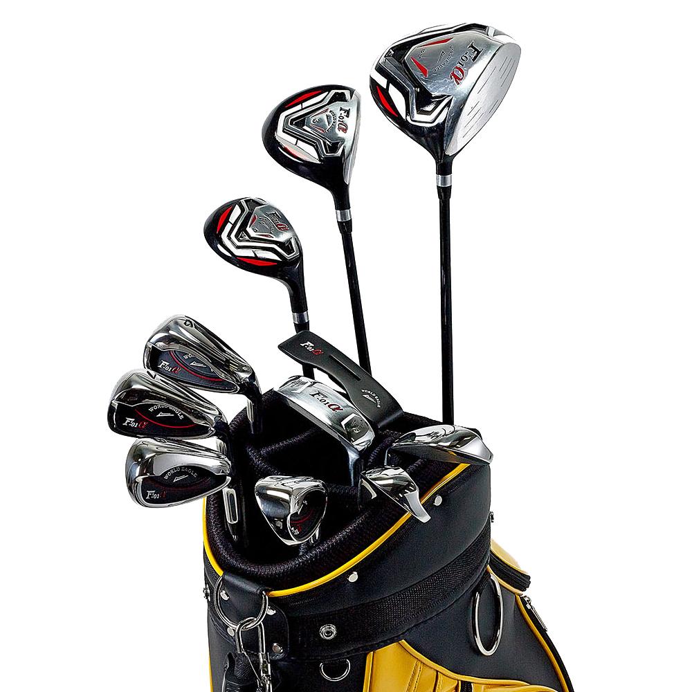 ワールドイーグル F-01αクロスモデル メンズ14点ゴルフクラブフルセット 右用 CBX007バッグ【初心者 初級者 ビギナー】