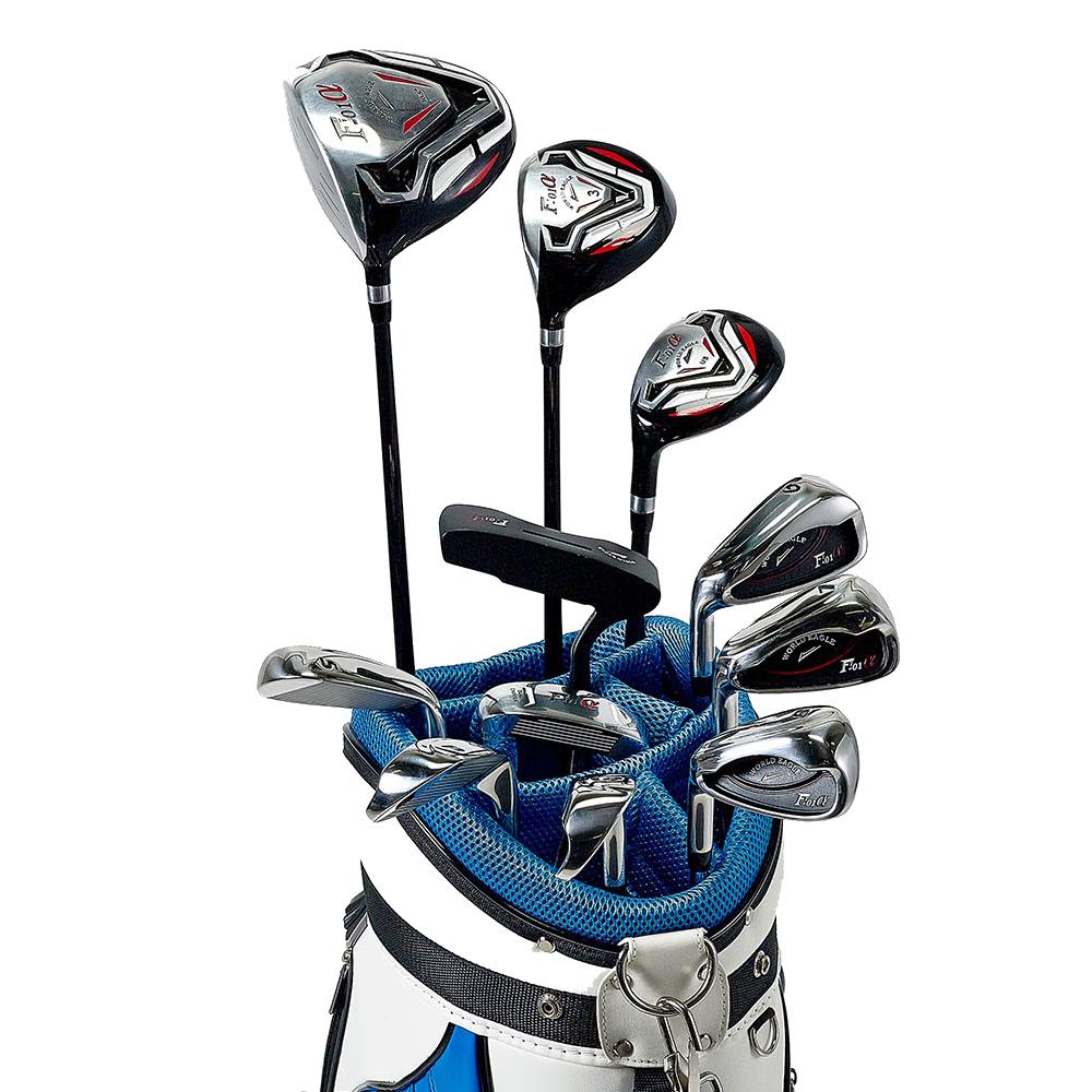 ワールドイーグル F-01αクロスモデル メンズ14点ゴルフクラブフルセット 左用 CBX005バッグ【初心者 初級者 ビギナー】