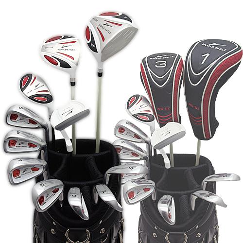 ワールドイーグル 5Zフルセット+CBXキャディーバック ホワイト+ブラックver 14点ゴルフクラブセット 右利き用【初心者 初級者 ビギナー】