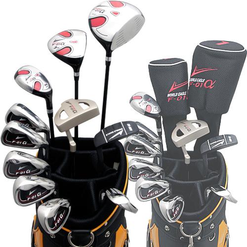 ワールドイーグル F-01α + CBX007カートバッグ メンズ14点ゴルフクラブセット 右用【初心者 初級者 ビギナー】【ssclst】【あす楽】