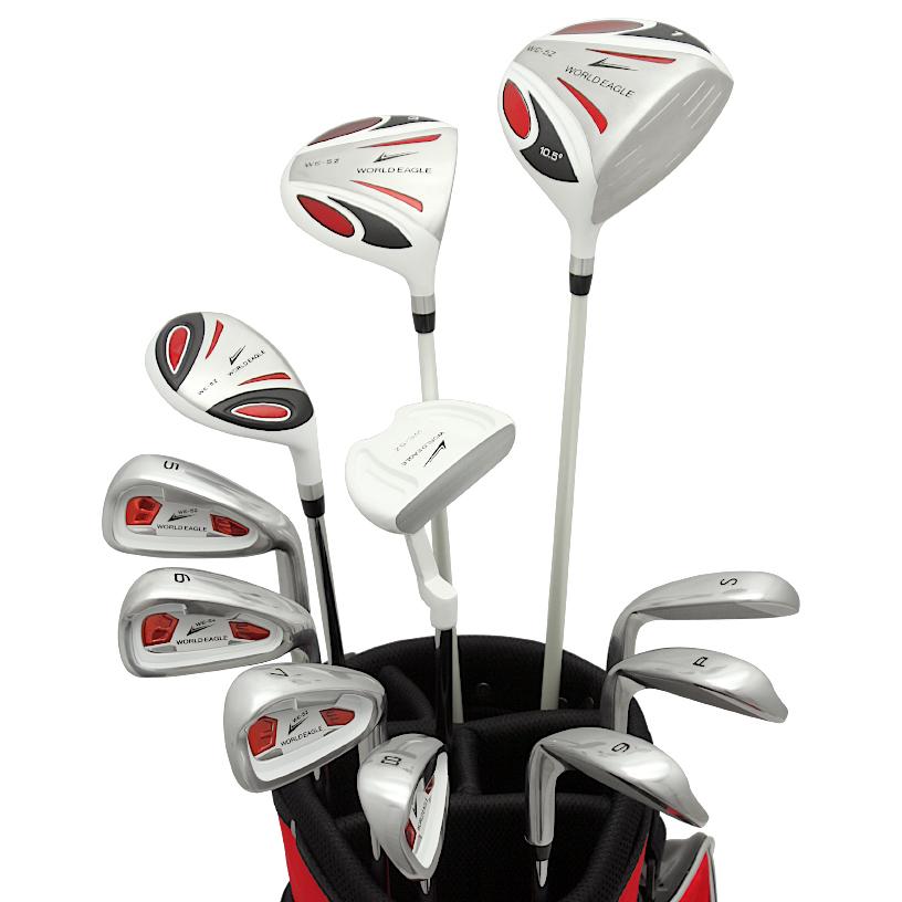 ワールドイーグル 5Z-WHITE メンズゴルフクラブ14点フルセット レッドバッグVer. 右用】【0824カード分割】【あす楽】