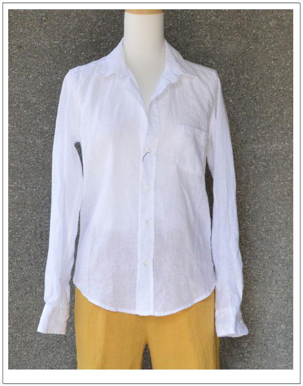 FRANK&EILEEN・フランク&アイリーンBARRY・麻ホワイトシャツ(611070213)【カラー】ホワイト