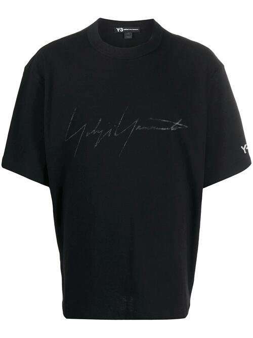 【今季注目】Y-3 ワイスリー TシャツM DISTRESSED SIGNATURE SS TEE 半袖 ロゴ Tシャツ FQ4114-APPS20 BLACK メンズ Y3 yohji yamamoto