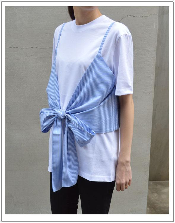 エムエスジーエム/MSGMキャミソールコンビTシャツ(2441MDM91Y) 【カラー】ホワイト【サイズ】XS・S