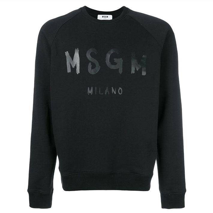 【再入荷!】メンズ エムエスジーエム/MSGMロゴ入りトレーナー(2540MM104) 【カラー】ブラック,グレー