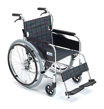 【送料無料】【離島・その他一部地域を除く】M-1 自走式 車椅子 ブレーキ付 アルミフレーム MPN-40JD/43JD 全長 97.5cm 全幅 65cm 【代金引換不可】【MiKi】【ミキ】【介護用品】【自走型】【介助】【自走兼介助】【介護】【車イス】【車いす】