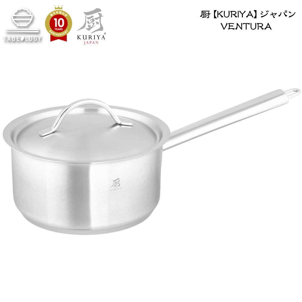 厨【KURIYA】ジャパン Ventura ミディアムソースパン 24cm