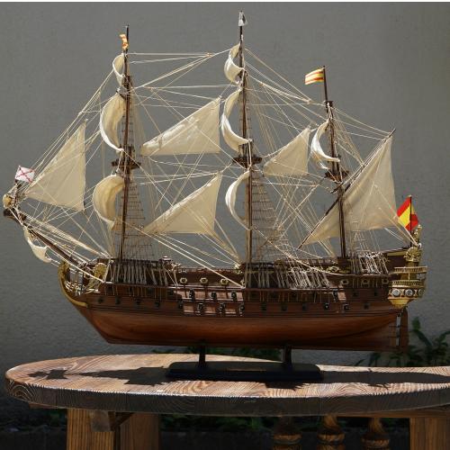 優先配送 木製帆船模型サイズ:98 85 38 長さ 幅 帆船模型 ストアー 高さ サンフェリーペア号