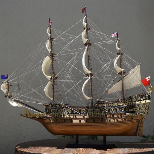 木製帆船模型 帆船模型 ソブリン.オブ.ザ.シーズ号 濃紺 トレンド 初回限定 Mサイズ107 34 幅 長さ 高さ 110