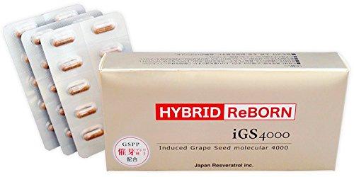 日本レスベラトロール ハイブリッドリボーン HYBRID ReBORN 30カプセル(約1ヶ月分)