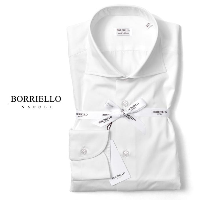 ボリエッロ BORRIELLO シャツ スリムフィット ホワイト ツイル (1016/2) 春夏