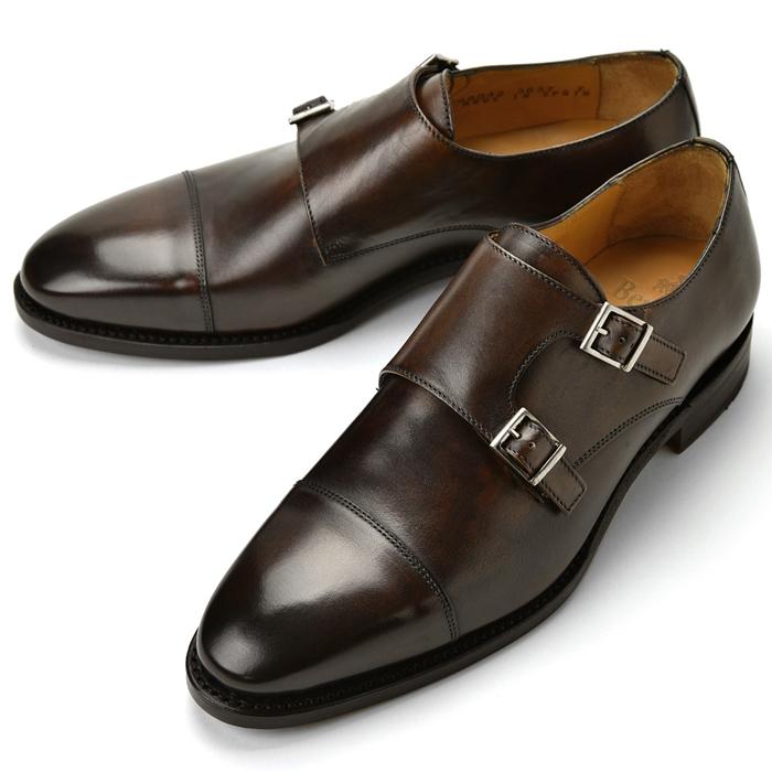 バーウィック BERWICK ダブルモンクストラップ 3637 ダークブラウン 【ドレスシューズ 革靴 ビジネス メンズ インポート】