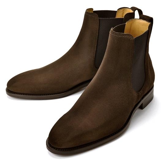 【クリアランス】バーウィック BERWICK サイドゴアブーツ 376 スエード ダークブラウン【ドレスシューズ 革靴 ビジネスシューズ メンズ インポート】
