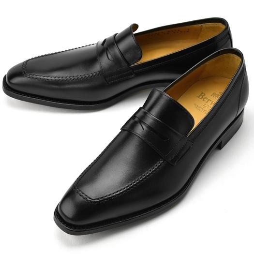 バーウィック BERWICK ローファー 3274 ブラック 【ドレスシューズ 革靴 ビジネスシューズ メンズ インポート】