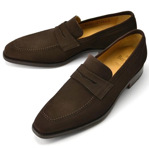 バーウィック BERWICK ローファー 3274 スエード ダークブラウン【ドレスシューズ 革靴 ビジネスシューズ メンズ インポート】