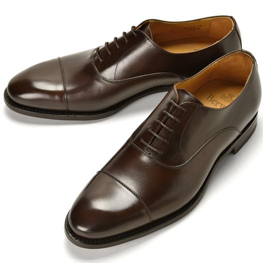 バーウィック BERWICK ストレートチップ 4087 ダークブラウン【ドレスシューズ 革靴 ビジネスシューズ メンズ インポート】
