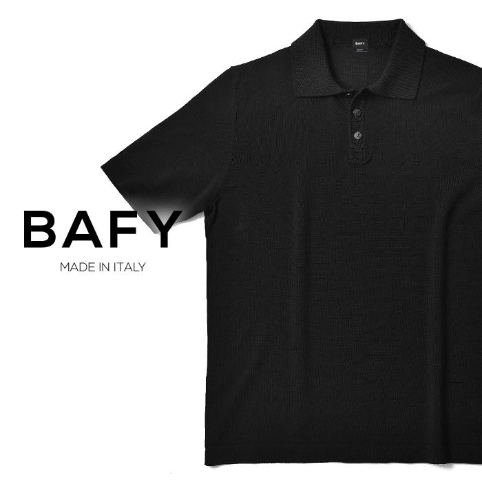 バフィー BAFY ニットポロ 1301602I(30102) ブラック ハイゲージ ドライコットン 2019春夏