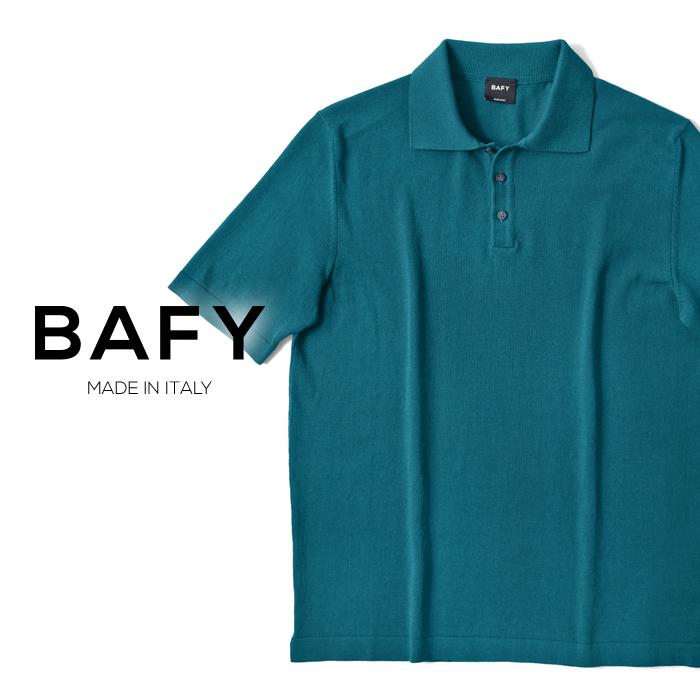 バフィー BAFY ニットポロ 1301602I(30138) ブルー ハイゲージ ドライコットン 2019春夏