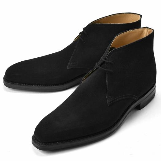 【クリアランス】クロケット&ジョーンズ CROCKETT&JONES チャッカブーツ TETBURY スエード ブラック LAST348 E【メンズ 革靴 ドレスシューズ ビジネスシューズ インポート】