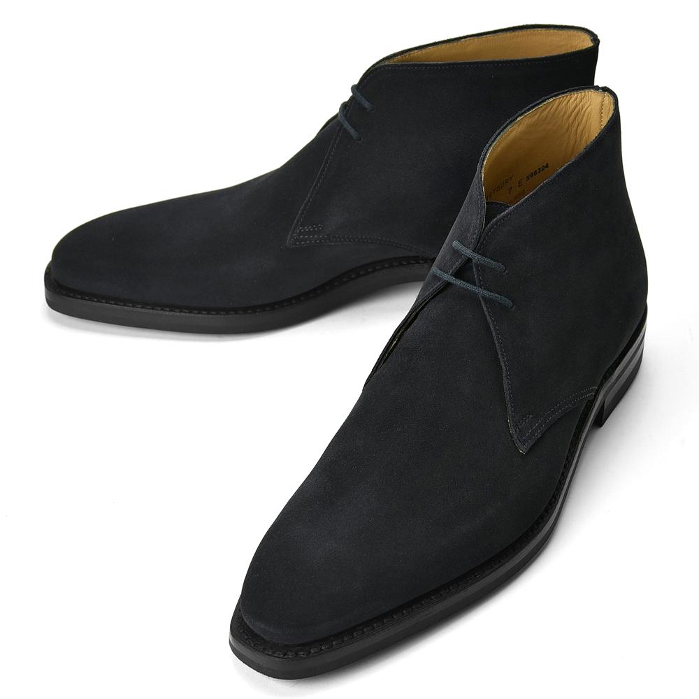 【クリアランス】クロケット&ジョーンズ CROCKETT&JONES チャッカブーツ TETBURY スエード ネイビー LAST348 E【メンズ 革靴 ドレスシューズ ビジネスシューズ インポート】