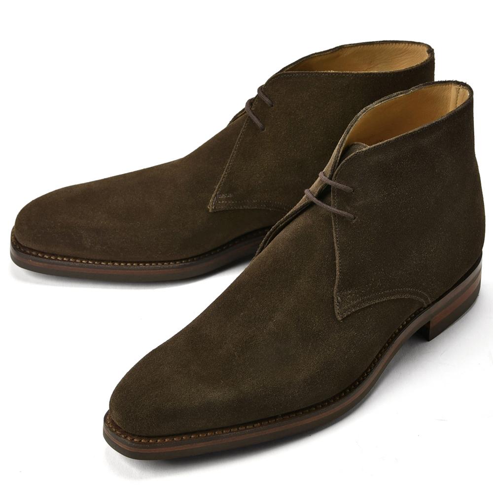 着用動画あり クリアランス クロケット ジョーンズ CROCKETTJONES 英国王室御用達の高級靴の代名詞 お得なキャンペーンを実施中 返品不可 1着でも送料無料 チャッカブーツ TETBURY スエード インポート LAST348 E メンズ 革靴 DARKBROWN ダークブラウン ドレスシューズ ビジネスシューズ