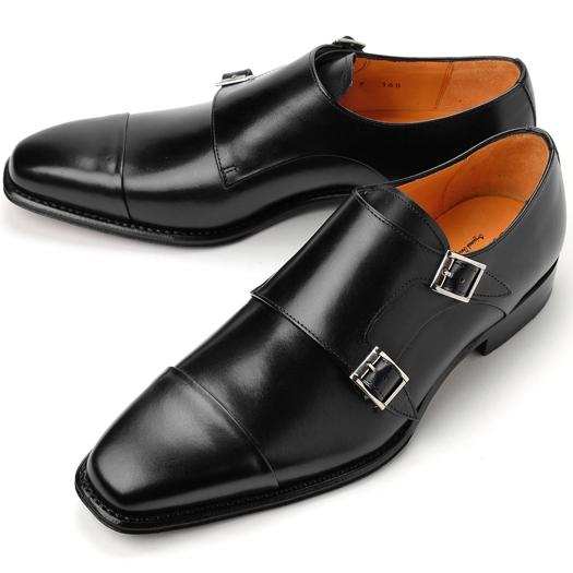 コードウェイナー CORDWAINER ダブルモンクストラップ DANNY ブラック 【ドレスシューズ 革靴 ビジネスシューズ メンズ インポート】