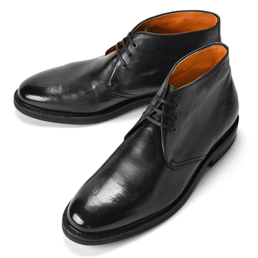 【クリアランス】コードウェイナー CORDWAINER チャッカブーツ 18010 ブラック ビンテージ 【ドレスシューズ 革靴 ビジネスシューズ メンズ インポート】