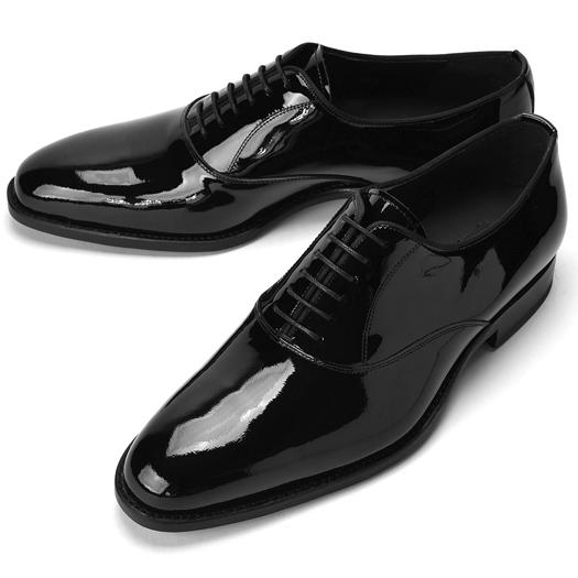 【クリアランス】CORDWAINER コードウェイナー NIAGARA プレーントゥ エナメル ブラック【ドレスシューズ 革靴 ビジネスシューズ メンズ インポート】