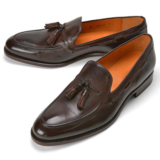 【クリアランス】コードウェイナー CORDWAINER タッセルローファー 18520 ダークブラウン ビンテージ【ドレスシューズ 革靴 ビジネスシューズ メンズ インポート】
