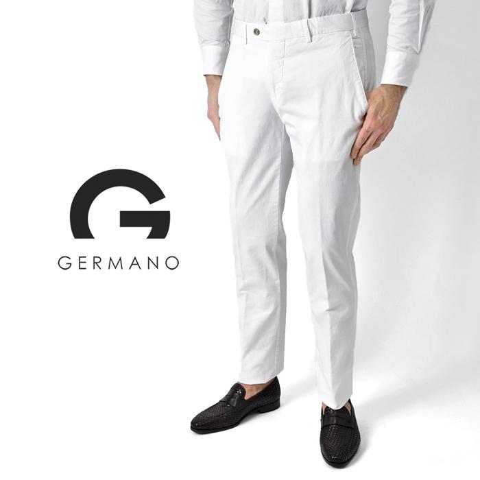 ジェルマーノ GERMANO スリムフィットチノ 524G-6902(0090) ホワイト / 白 2019春夏