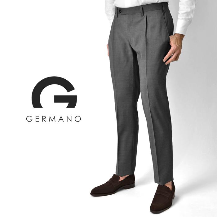【クリアランス】ジェルマーノ GERMANO スラックス super100'sウール 321G-8607(0172) ミディアムグレー 2020春夏【パンツ メンズ ビジネス インポート】