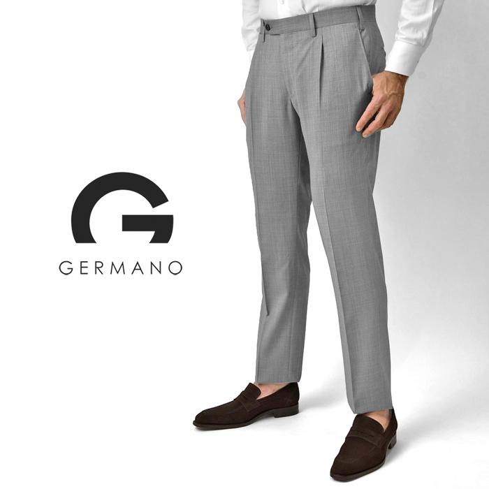 【クリアランス】ジェルマーノ GERMANO スラックス super100'sウール 321G-8607(0170) ライトグレー 2020春夏【パンツ メンズ ビジネス インポート】