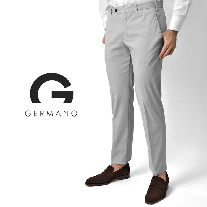 ジェルマーノ GERMANO スリムフィットチノ 524G-8902(0171) ライトグレー 後染め ウォッシュ加工 2020春夏