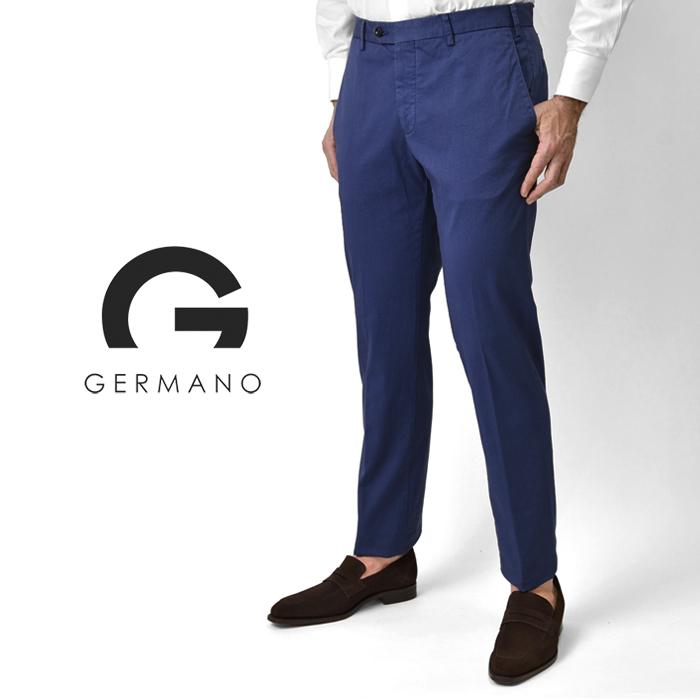 【クリアランス】ジェルマーノ GERMANO スリムフィットチノ 524G-8902(0203) ダークブルー ウォッシュ加工 後染め 2020春夏